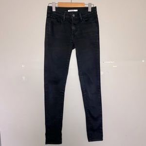 Levi's 710 Super Skinny Faded High-Rise Black Jeans Size 27!